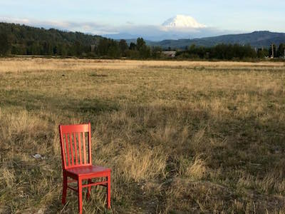 Mt. Rainier Red Chair